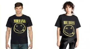 Nirvana and Marc Jacobs smiley face t shirts